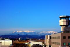 仙台空港から望む蔵王連山