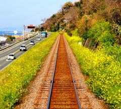 春のローカル線