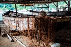 伊根浦の老船