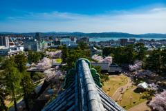 松江城から宍道湖