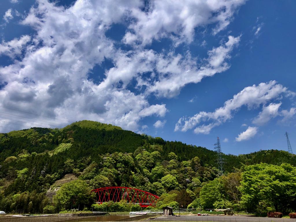 矢作ダムへ向かう途中
