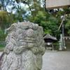 DSCF5329 名塩八幡神社 狛犬 吽像