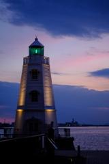 旧堺灯台 夕暮れ