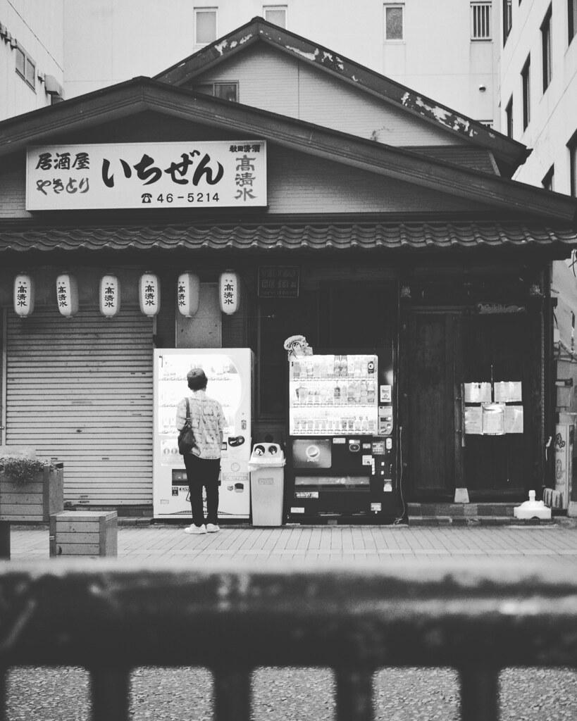 早朝の販売機