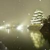 雪夜の烏城②