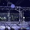 雪夜の貨物ターミナル