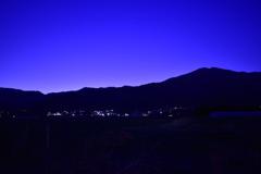日没後の中央アルプス