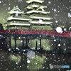 雪玉と烏城