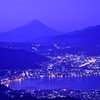 夜明け前の富士