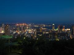 ヴィーナスブリッジ越しに見る神戸の夜景