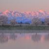 頚城三山黎明