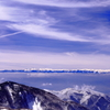 雲に浮かぶ白い地平線