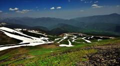 初夏の雪渓