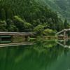 ダム湖の撮影