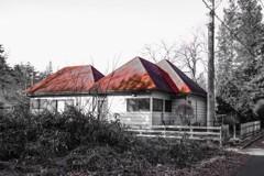 赤屋根の家に