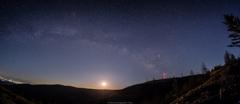 月と天の川