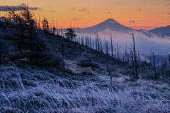 氷点下の朝、富士が美しい
