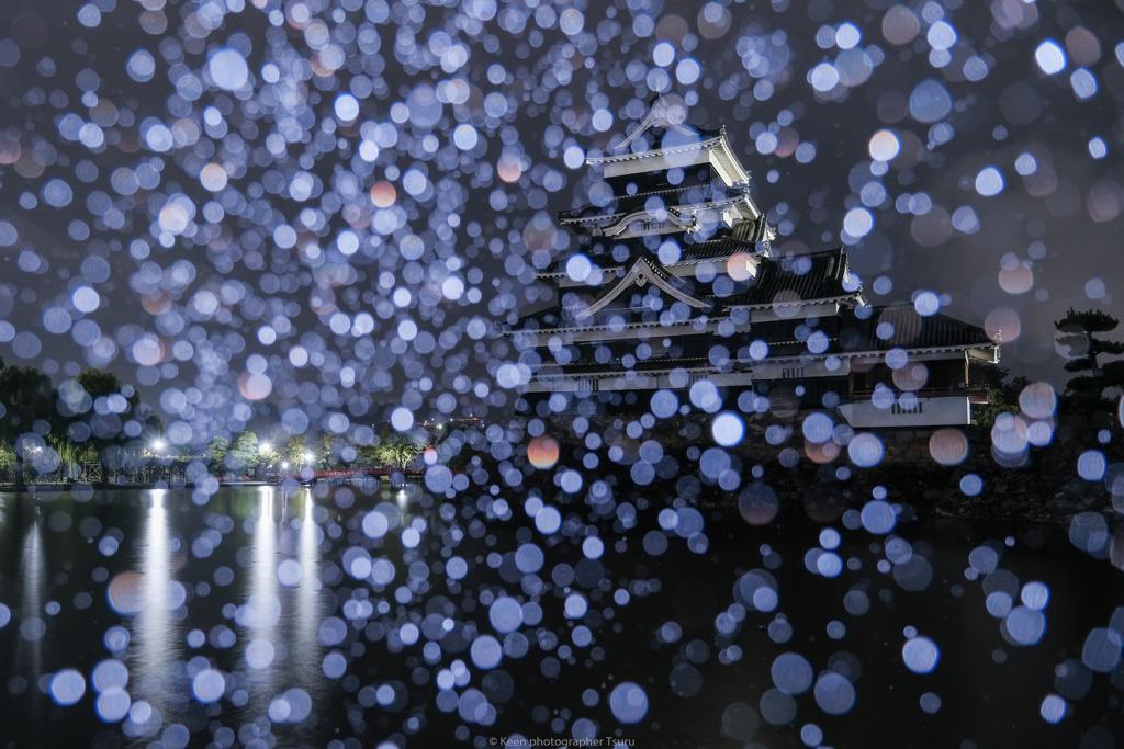 雨の日には、雨の写真を