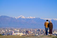山がキレイな朝
