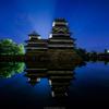 松本城とオリオン