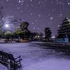 雪の松本城公園