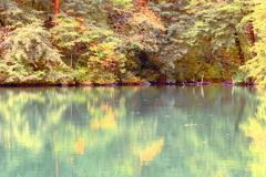 神秘的な湖水