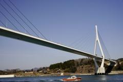 復興のシンボル 気仙沼湾横断橋