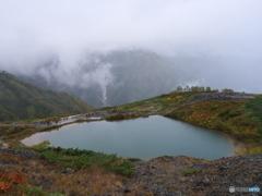 雨の八方池