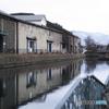 晩冬の小樽運河