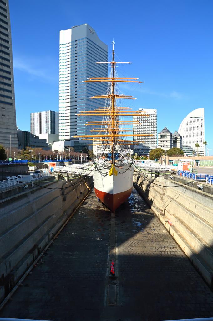 帆船日本丸の大規模修繕(#1)
