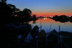 横利根川の夕景