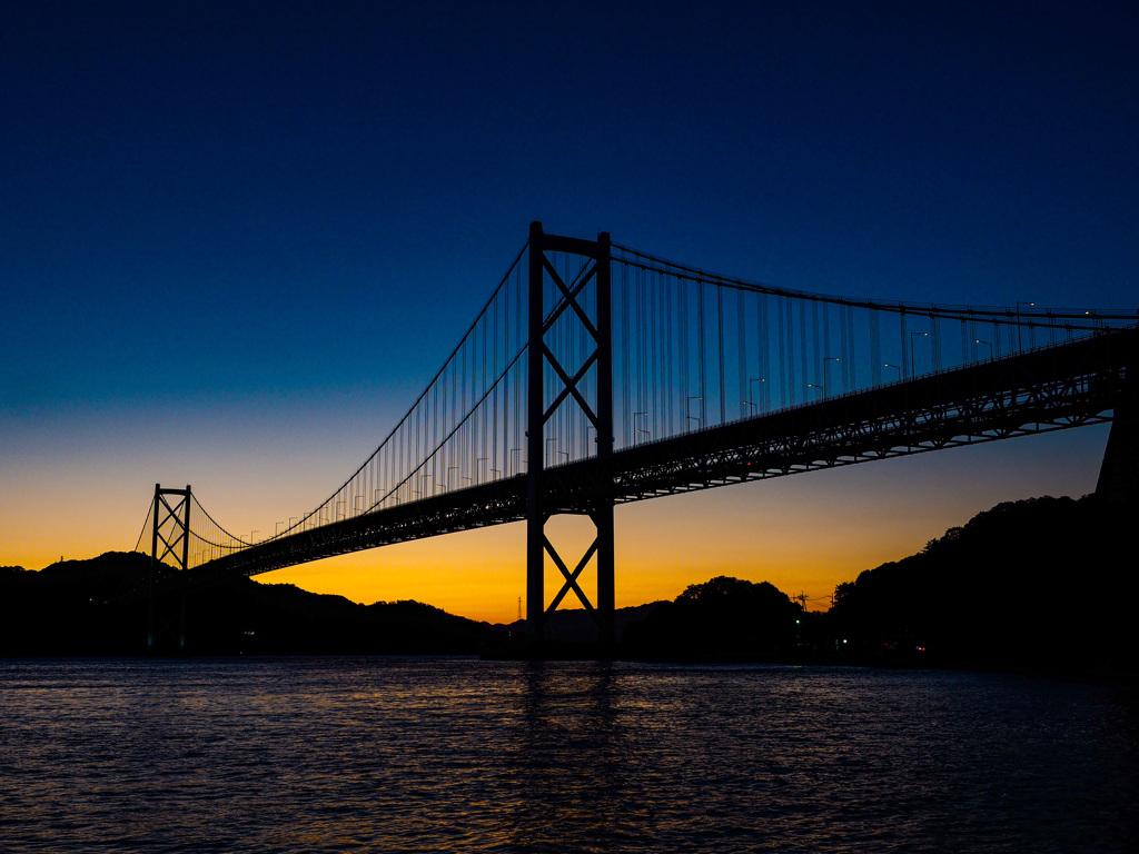 因島大橋 夕景 再挑戦