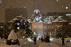 赤れんが庁舎の雪景色