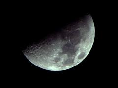 月齢8.6(上弦の月)