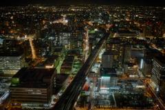 再開発区域の夜景