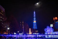 今年最後の満月~さっぽろテレビ塔編~
