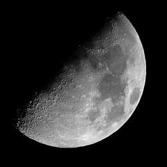 月齢8.4(上弦の月)