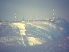 雪の少ない手稲山