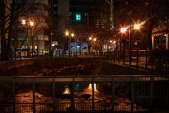 鴨々川・・・ノスタルジックな夜景1