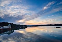 多摩湖の夕景