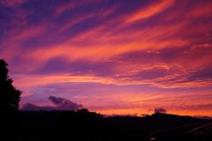 窓からの夕日