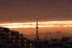20191026夕景(タワー)