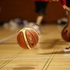 練習中のボール