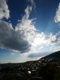 バルコニーから見る神戸の街