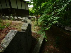 お寺の片隅の風景