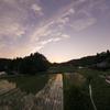 銭原の夕景2~沈む夕陽の灯り~