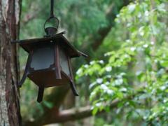 古びた吊り灯籠