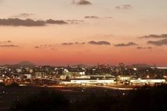 夕暮れの福岡空港