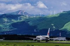 阿蘇くまもと空港 夏の風景