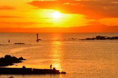 相模湾の夕日